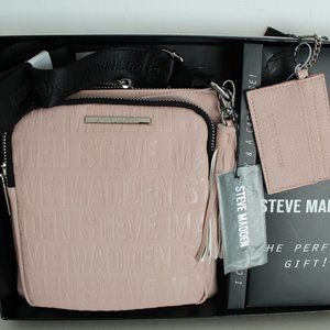 STEVE MADDEN 2 PIECE SET CROSSBODY BAG BLUSH PINK